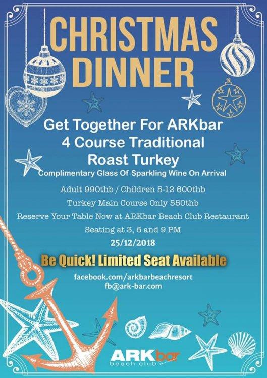 ARKbar Christmas dinner