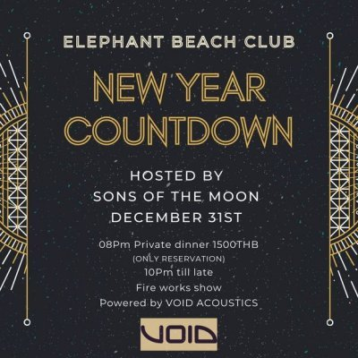 DINNER & NEW YEAR COUNTDOWN hosted by SONS OF THE MOON