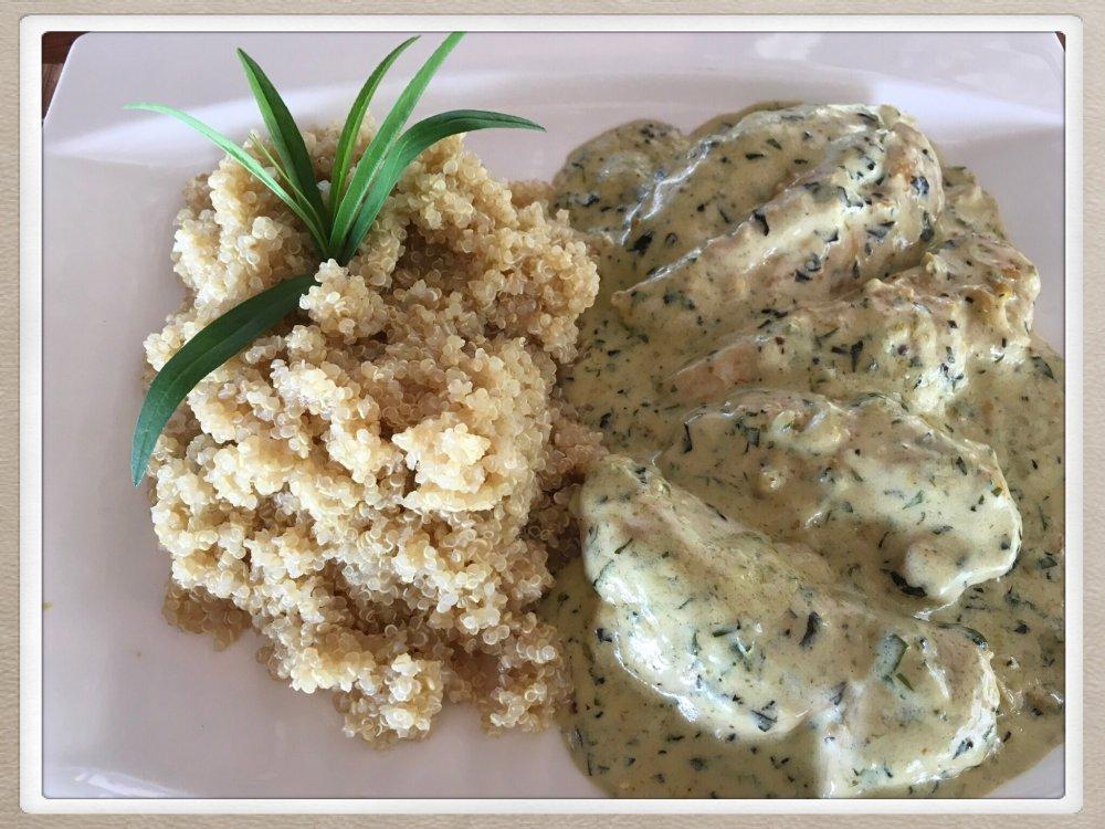 Chicken breast in creamy Tarragon sauce
