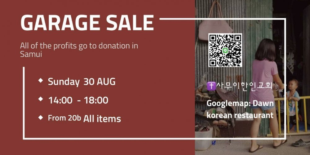 Garage Sale for donation