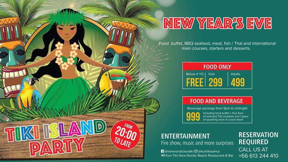 New Year Eve Tiki Island Party