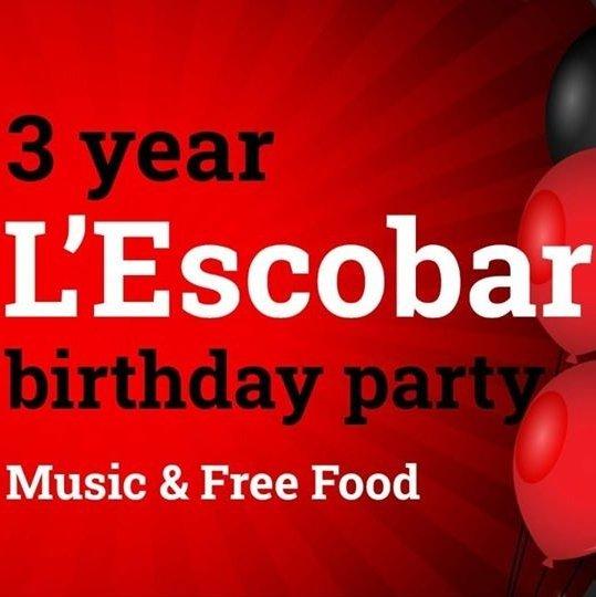 L'EscoBar Birthday Party.