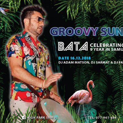 Groovy Sunday Bata Celebrating 9 year's in paradise!