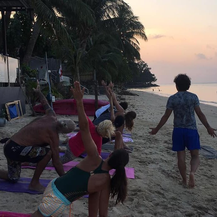 Free Yoga Samui Community - Sunset Beach Yoga