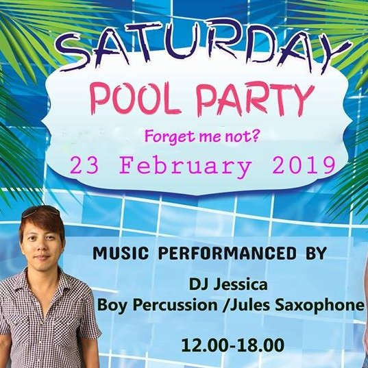For get me not Pool Party