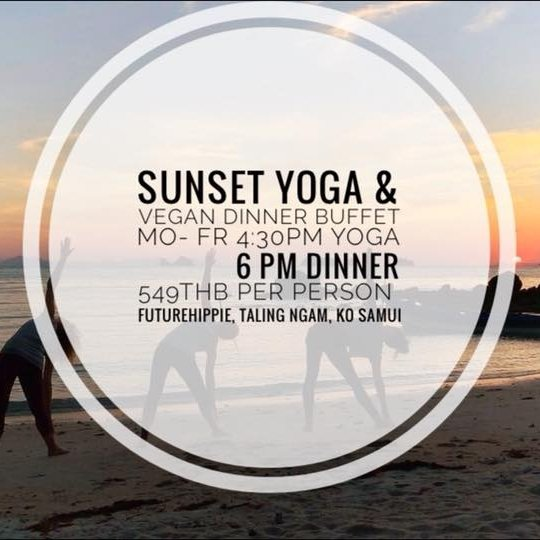 Sunset Yoga & vegan Dinner