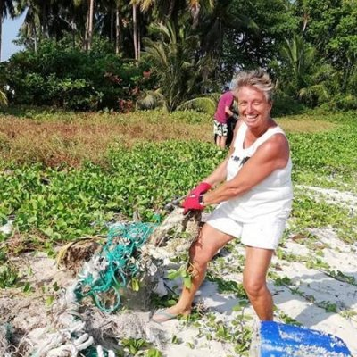 Thong Tanote Beach Cleaning