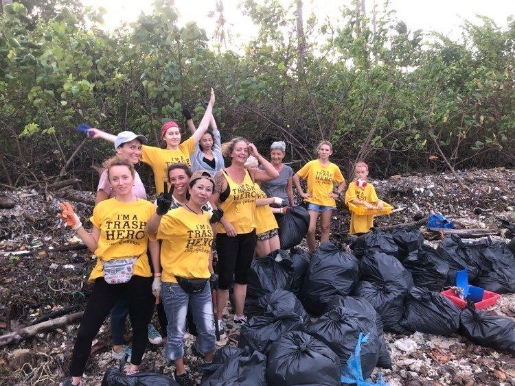Trash Hero Beach Cleanup at Satva Yoga