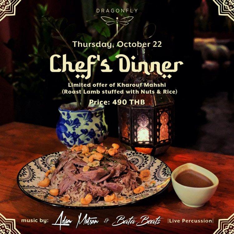 Chef's Dinner Series: Kharouf Mahshi @ Dragonfly Samui