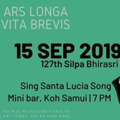 Silpa Bhrirasri's day on Koh Samui