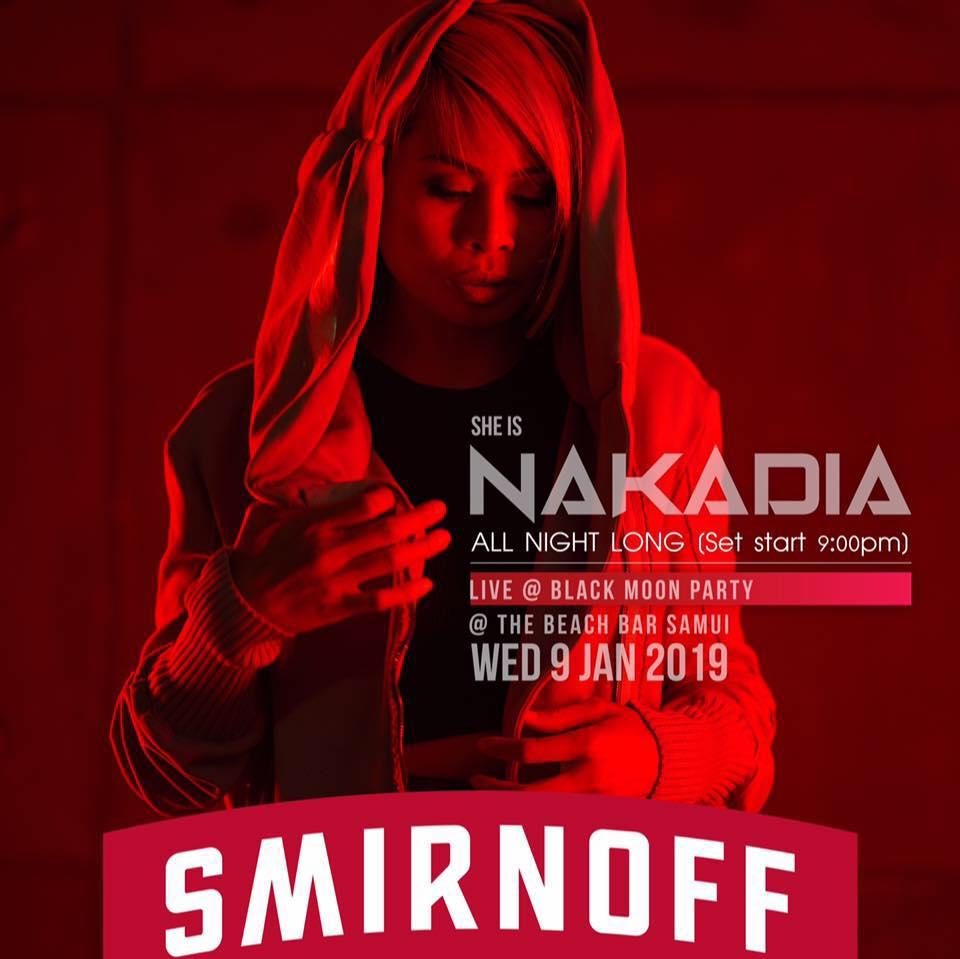 DJ. NAKADIA,BLACK MOON BEACH PARTY