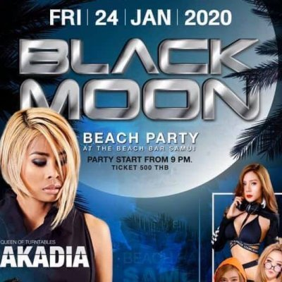 DJ.NAKADIE ,BLACK MOON BEACH PARTY