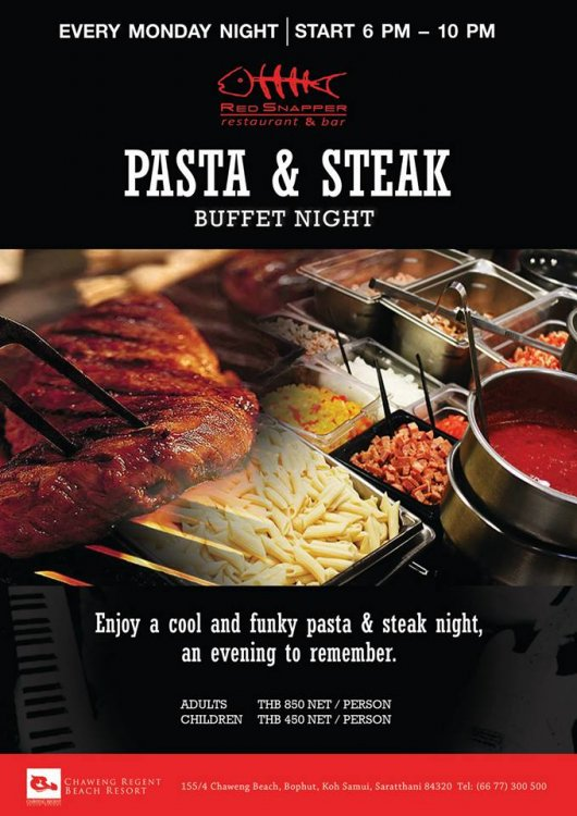 Pasta & Steak Buffet Night