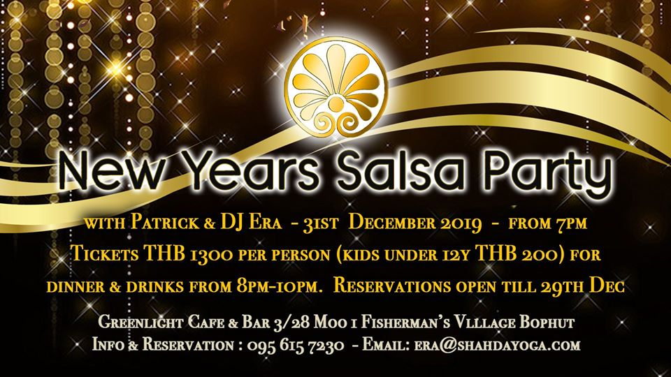 Greenlight Cafe New Year's Salsa Party.