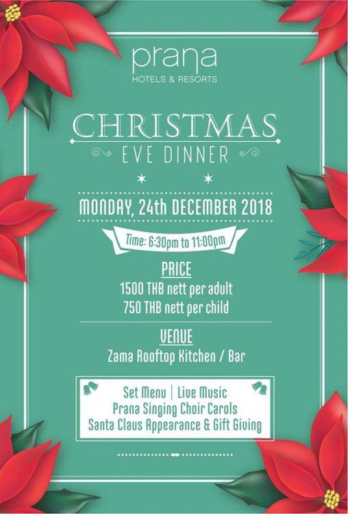 Christmas Eve Dinner at Prana