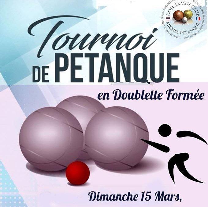 Dimanche 15 Mars, Tournoi en Doublette Formée