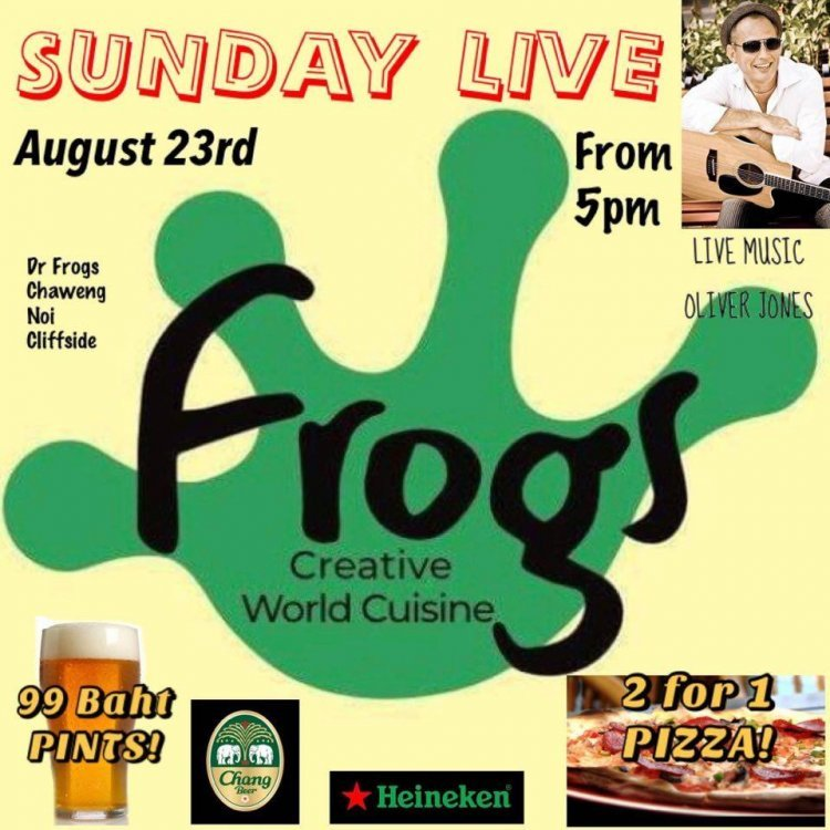 FROGS Sunday Live Session with Oliver Jones & Friends