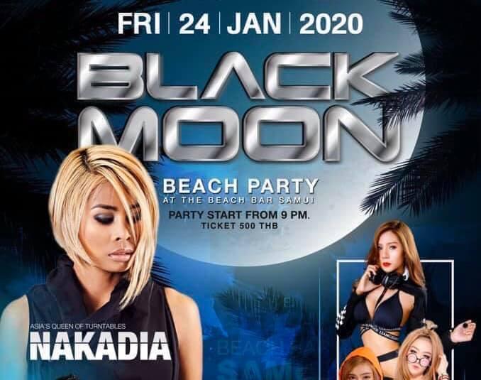 DJ.NAKADIE ,BLACK MOON BEACH PARTY