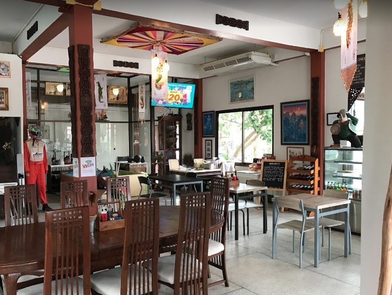 Green cafe and restaurant